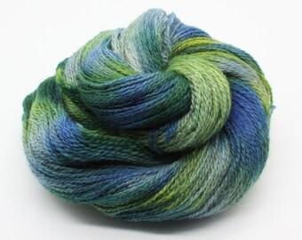 Hand Dyed 4ply British BFL & Masham Wool Yarn - Summer Moorland