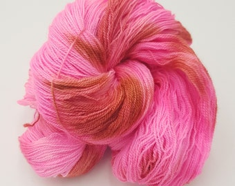 Hand Dyed Laceweight Super Fine Falkland Wool - Charred Marshmallow
