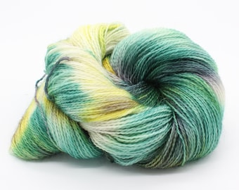 Hand Dyed 4ply Sock Yarn - Corriedale & Mohair - Woodland Clearing