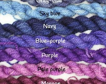British Wool BFL Masham DK Yarn Miniskeins