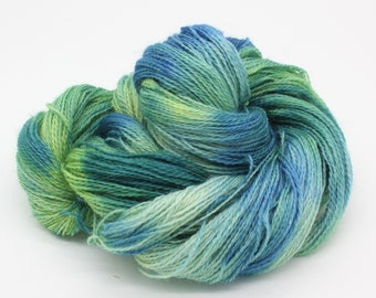 Hand Dyed 4ply Sock Yarn - Corriedale & Mohair
