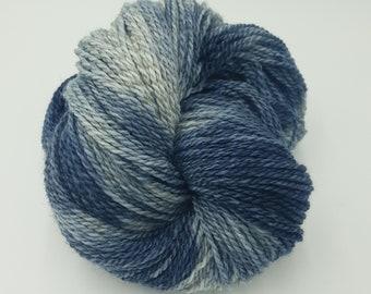 Hand Dyed DK Falkland Merino Masham Wool Yarn - Stormy Sea