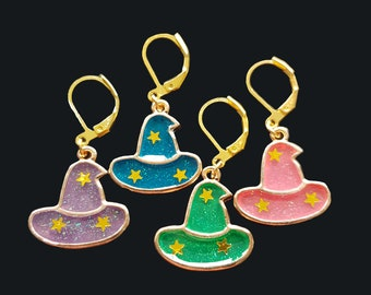 Halloween Knitting & Crochet Progress Keepers/Stitch Markers - Wizard/Witch Hats