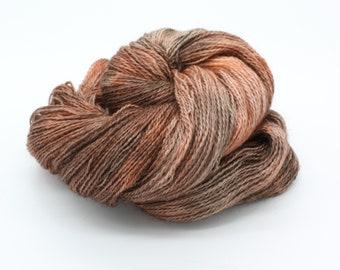 Hand Dyed 4ply Sock Yarn - Corriedale & Mohair - Sparrow