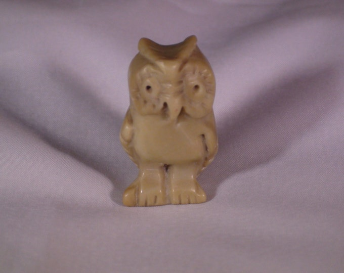 Antique Chinese Authentic Jade Owl Hand Carved