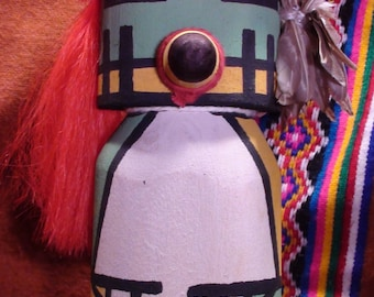 Native American Hopi Cradle Kachina Doll Hand Carved Wood Orlin Honyumptewa