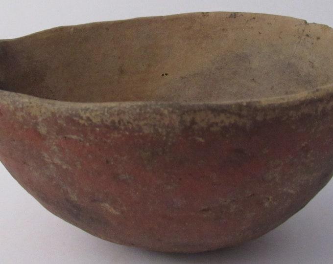 Pre Columbian Native American Salado Coil Pottery Bowl 1250-1450 CE Very Good