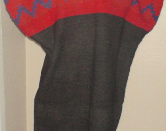 Native American Navajo Dine Hand Woven Wool Biil Dress