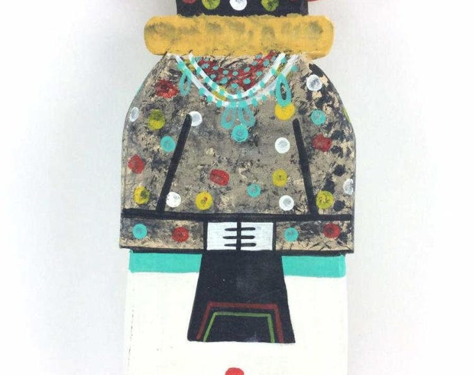 Native American Hopi Kokosori Katsina Kachina Cradle Doll Hand Carved