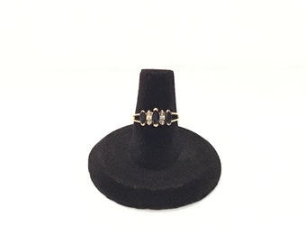 10K Gold with Sapphire and Diamond Ring Size 6 1/4