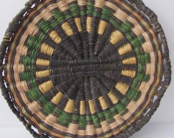 Native American Hopi Polychrome Basket Tray 3rd Mesa Arizona