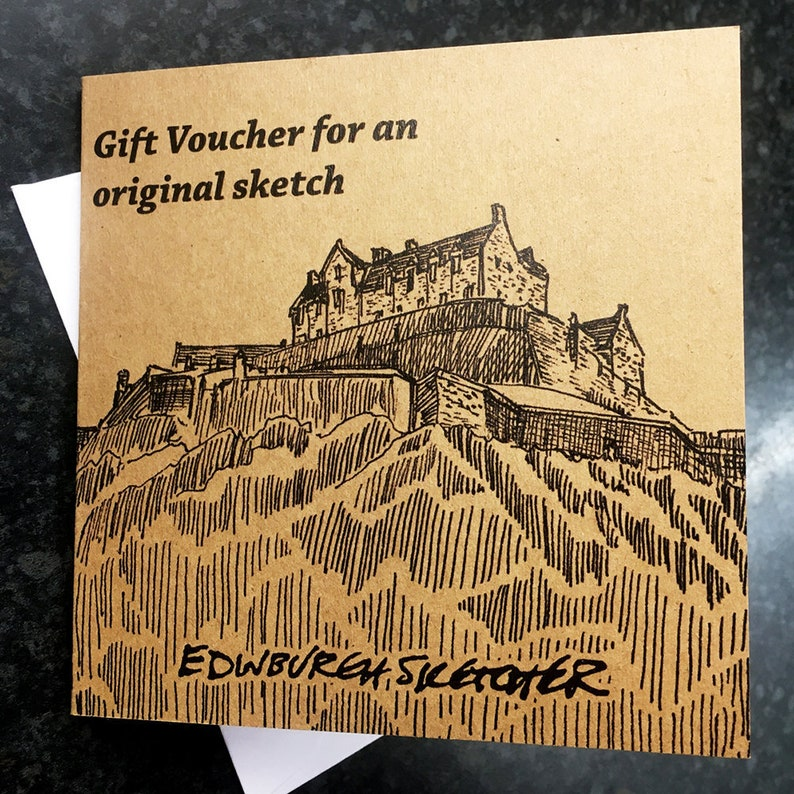 Gift Voucher for an original painting by Edinburgh Sketcher. image 0
