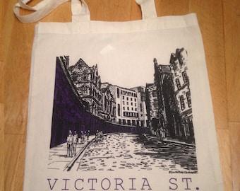 Screen Printed Tote Bag of Victoria St