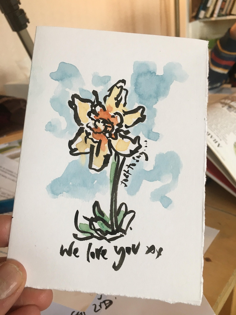 Personalised painted gift cards to send direct each one an image 0