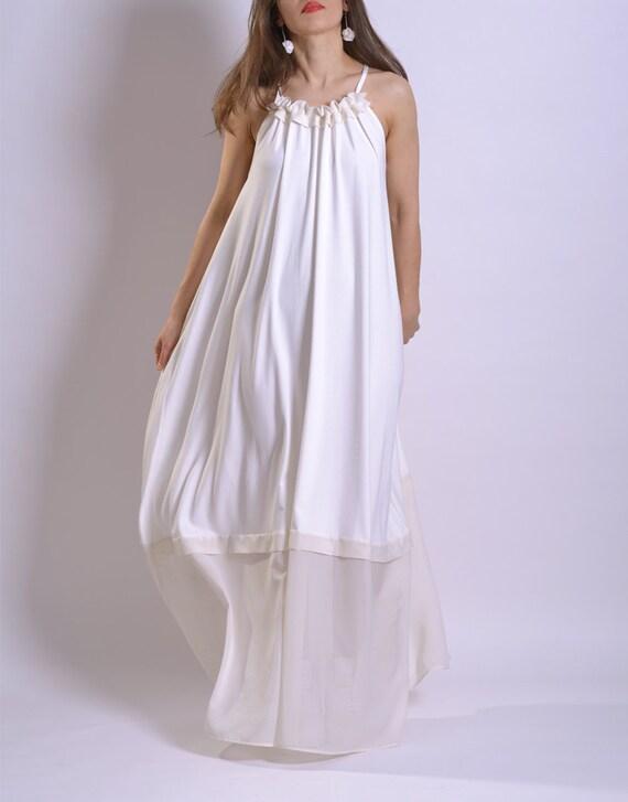 Maxi Maxi Plus Dress Dress Size Summer White Beach Dress Dress Summer Dress Plus Dress Maxi Bohemian White White Size Dress Dress 60nwd7qTxw