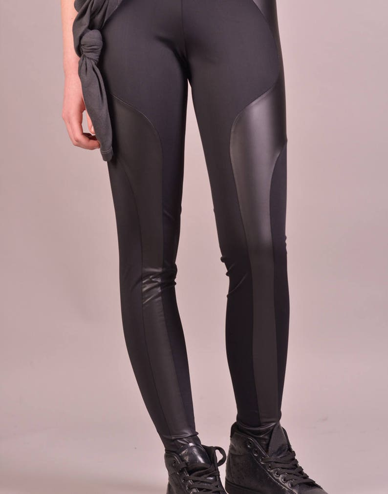 21ea9dbe5 Women Black Leggings Cyberpunk Clothing Yoga Pants Sexy