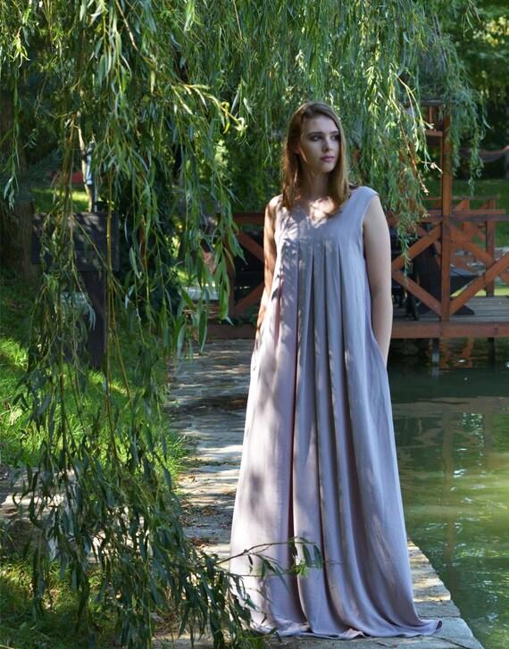 Abaya Dress, Women Kaftan Dress, Plus Size Maxi Dress, Long Tank Dress,  Sleeveless Dress, Caftan Dress, Spring Dress, Loose Dress