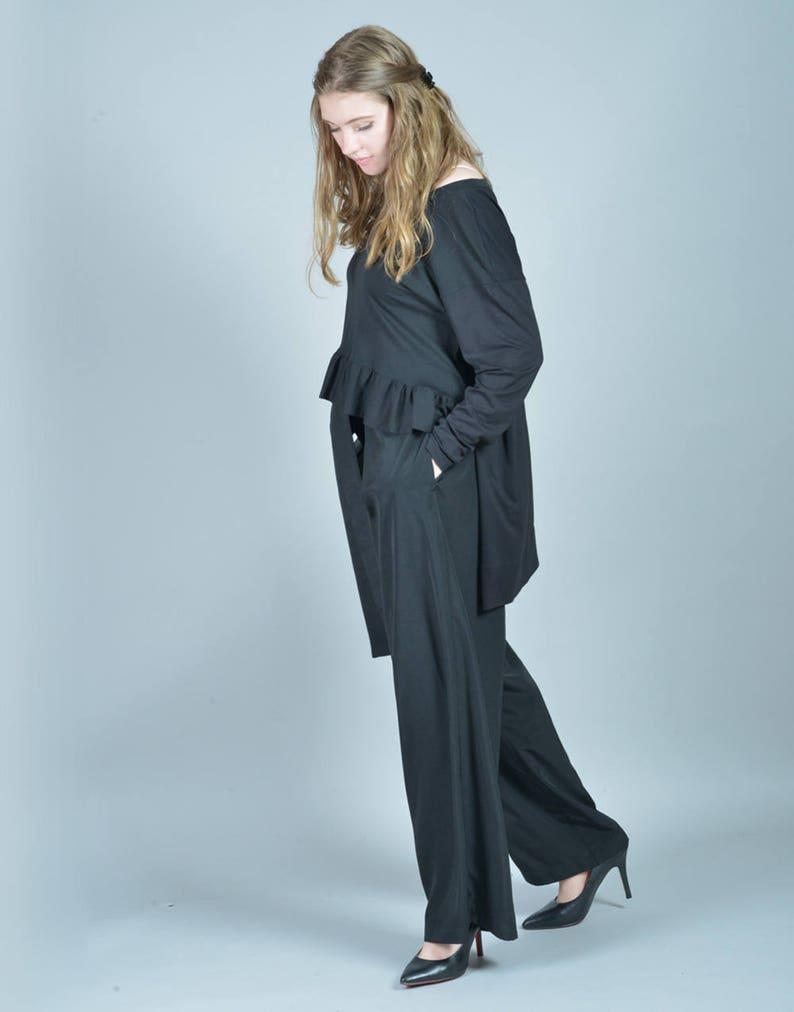 3eb723aadbc1e6 Schwarze Tunika extravagantes Top Gothic Kleidung Rüschen | Etsy