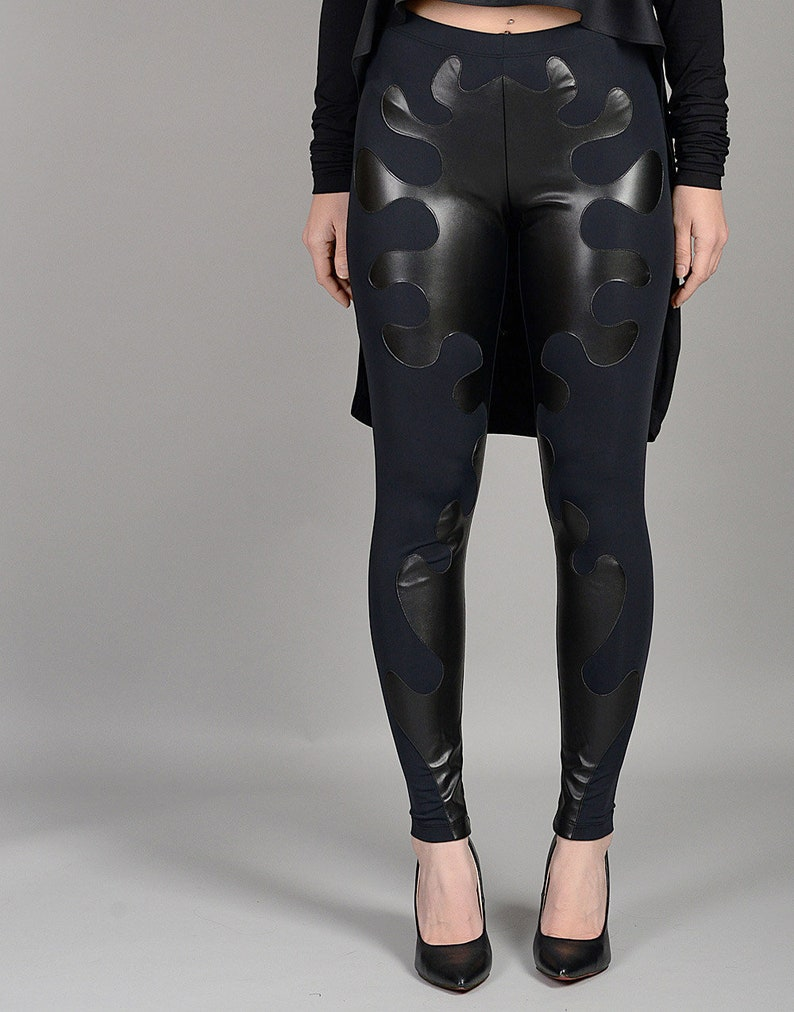 Latex Sport Tight Black Women Pants Casual Sexy Bag Hip Size Xxs-xxl Women's Exotic Apparel Novelty & Special Use