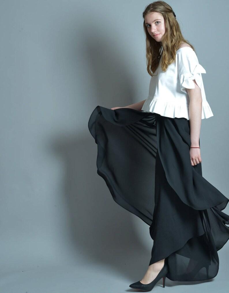 b2067f3c7c3 Palazzo Pants Skirt Pants Gothic Clothing Plus Size Pants
