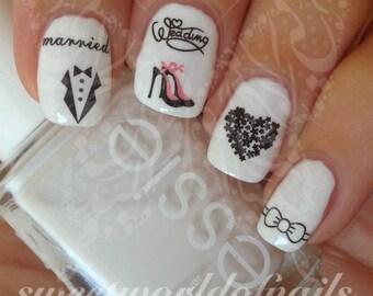 Wedding Nail Art Etsy