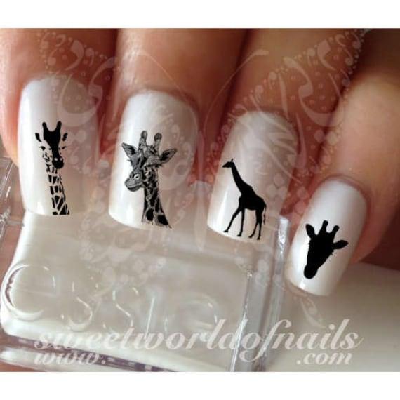 Giraffe Nail Art Nail Water Decals Wraps