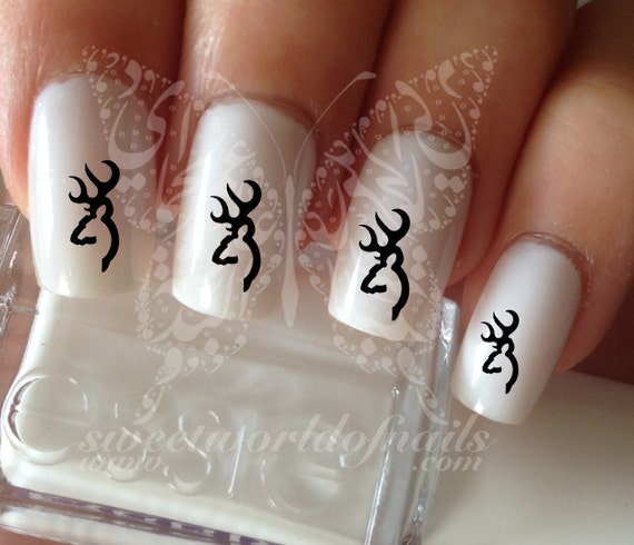 Browning Nail Art Nail Water Decals Transfers Wraps Etsy