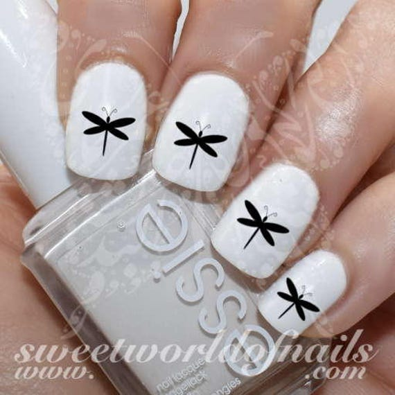 image 0 - Dragonfly Nail Art Nail Water Decals Transfers Wraps Etsy