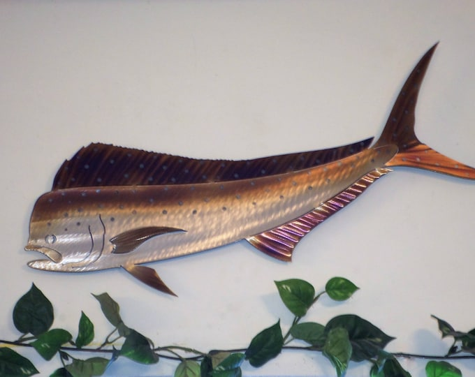 Handmade Dorado Mahi Mahi,Dolphinfish Dolphin fish,Ocean,fishing,Metal Art Wall,