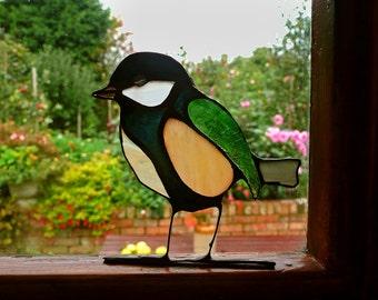 2D Stained Glass Bird Sun Catcher