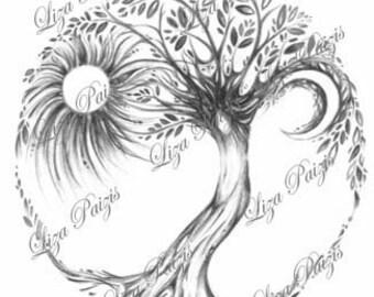 Benutzerdefinierte Baum Des Lebens Tätowierung Oder Logo Etsy