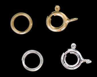 Ringe 100 Spaltringe Federinge offen 8 mm,silberfarben Verbindungsringe