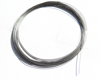 Grundpreis1m=0,038/€ 100m SCHMUCKDRAHT 1 Rolle 0,38mm Farbe Silber Perlendraht nylonummantelt beadsvision