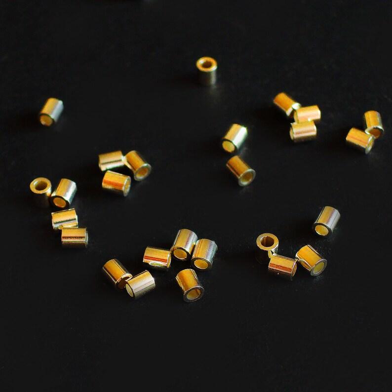 Quetschkugeln Quetschperlen 925 Sterlingsilber rund Crimp 1,8mm außen Miniperlen
