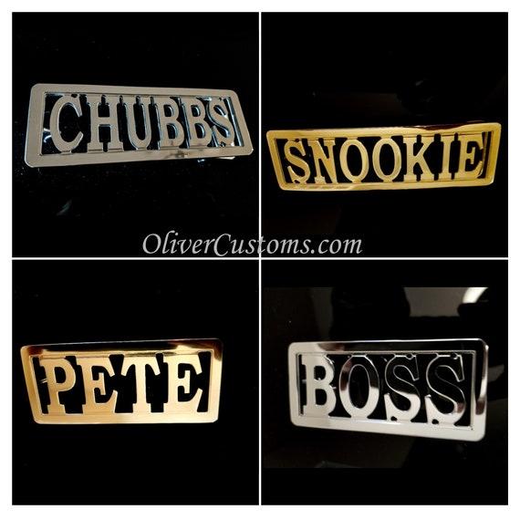 cerca l'originale vendita calda materiali di alta qualità Cintura di Old School Hip Hop personalizzato nome fibbia: ottone lucido  personalizzato, Rose Gold o Chrome