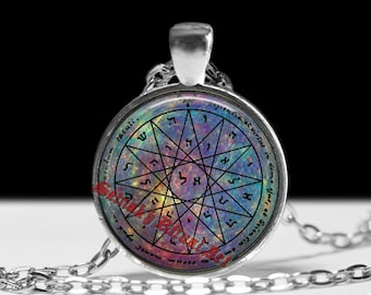 Fourth pentacle of Mercury necklace, knowledge and wisdom talisman, occult symbol, alchemy, The Greater Key, King Solomon seals, magick #103