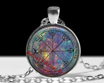 Third pentacle of Mercury necklace, literary skills talisman for poets and writers, occult symbol, alchemy, King Solomon seals, magick,#103