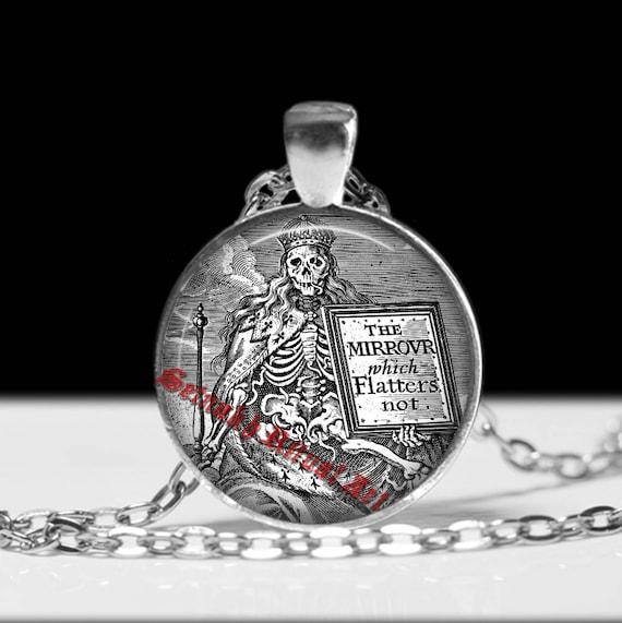 Santa muerte pendant santa muerte jewelry saint death mozeypictures Images