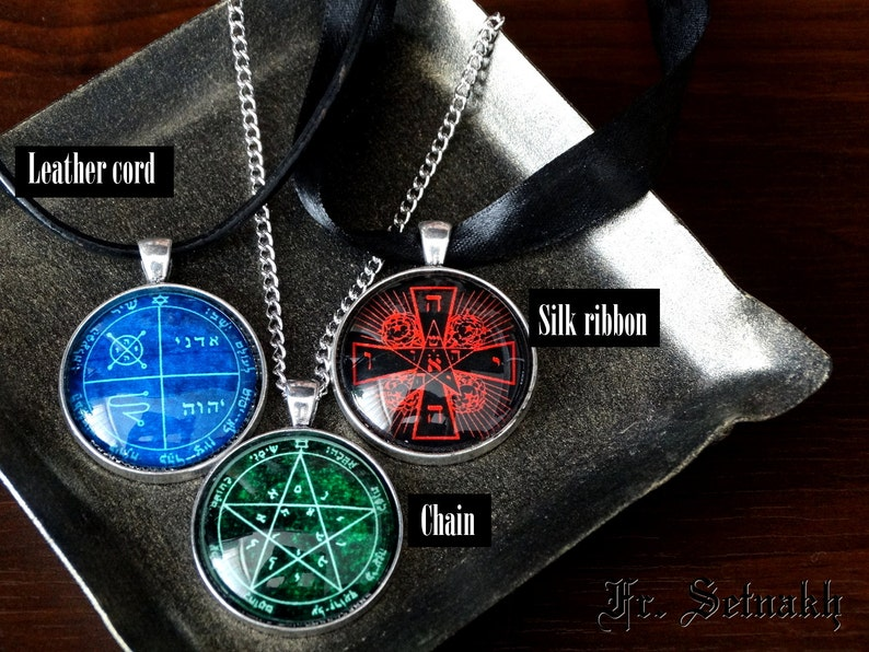 25 GLASYA - LABOLAS demon seal pendant, Goetia necklace, Lemegeton, Lesser  Key of Solomon, occult, summoning demons ritual amulet #104 23