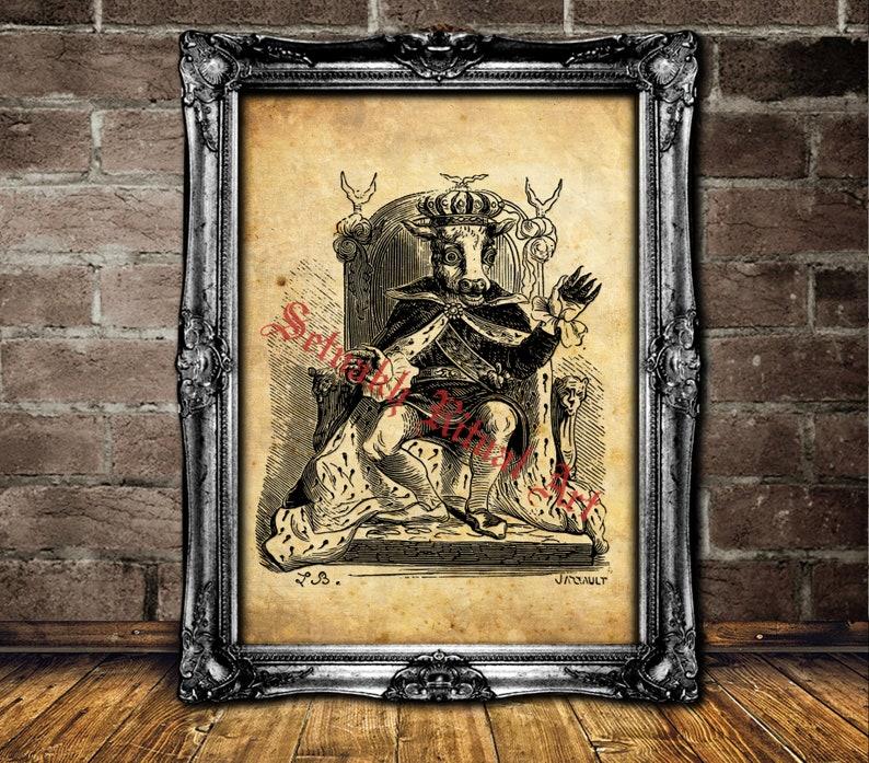 Moloch Print Molech Art Occult Antique Medieval