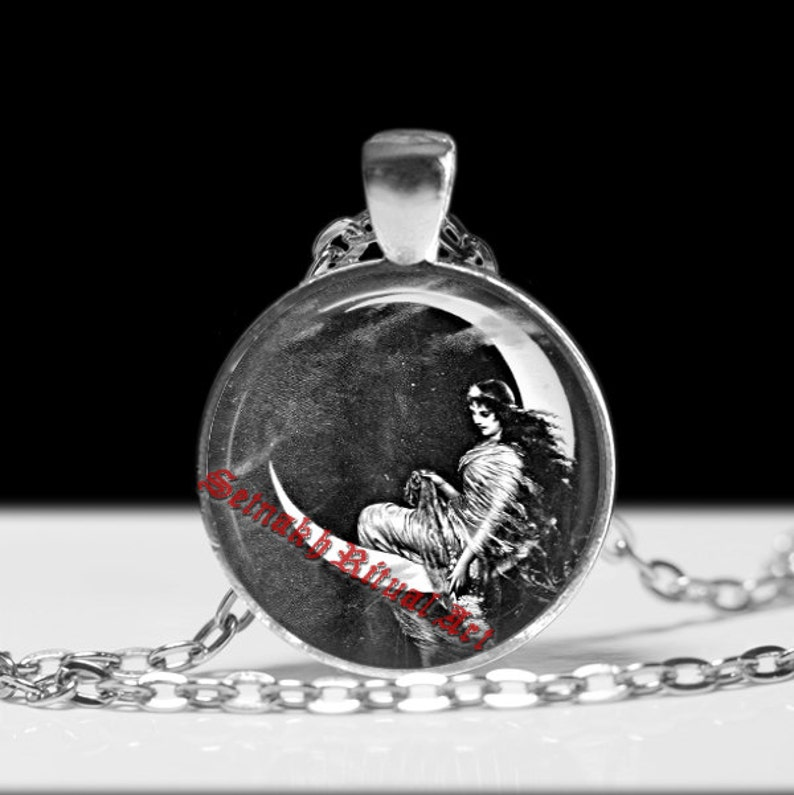 fairy necklace Moon pendant gothic jewelry magic talisman pagan accessories #290 wiccan jewelry