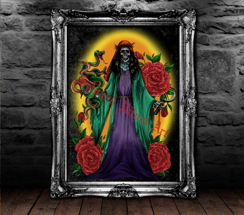 e5d0ccafccb2 THE REDEEMER Santa Muerte poster Saint Death poster Occult