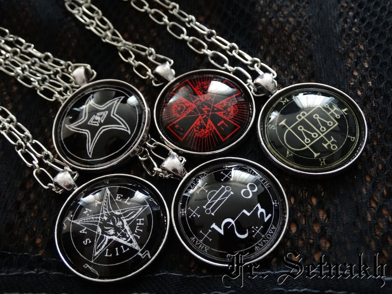 Seven Archangels seal talisman, Angel jewelry, Magic pendant, Occult  necklace, Michael, Gabriel, Zadkiel, Samael, Raphael, Tzafqiel #467