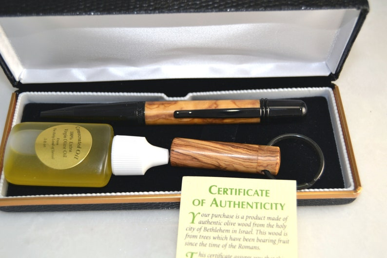LDS Consecrated Oil Vial and Pen Made Out Of Olive Wood ...