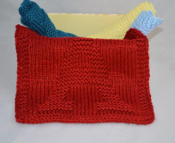 Baby Washcloths Hand Knit Washcloths Personalized Baby Etsy
