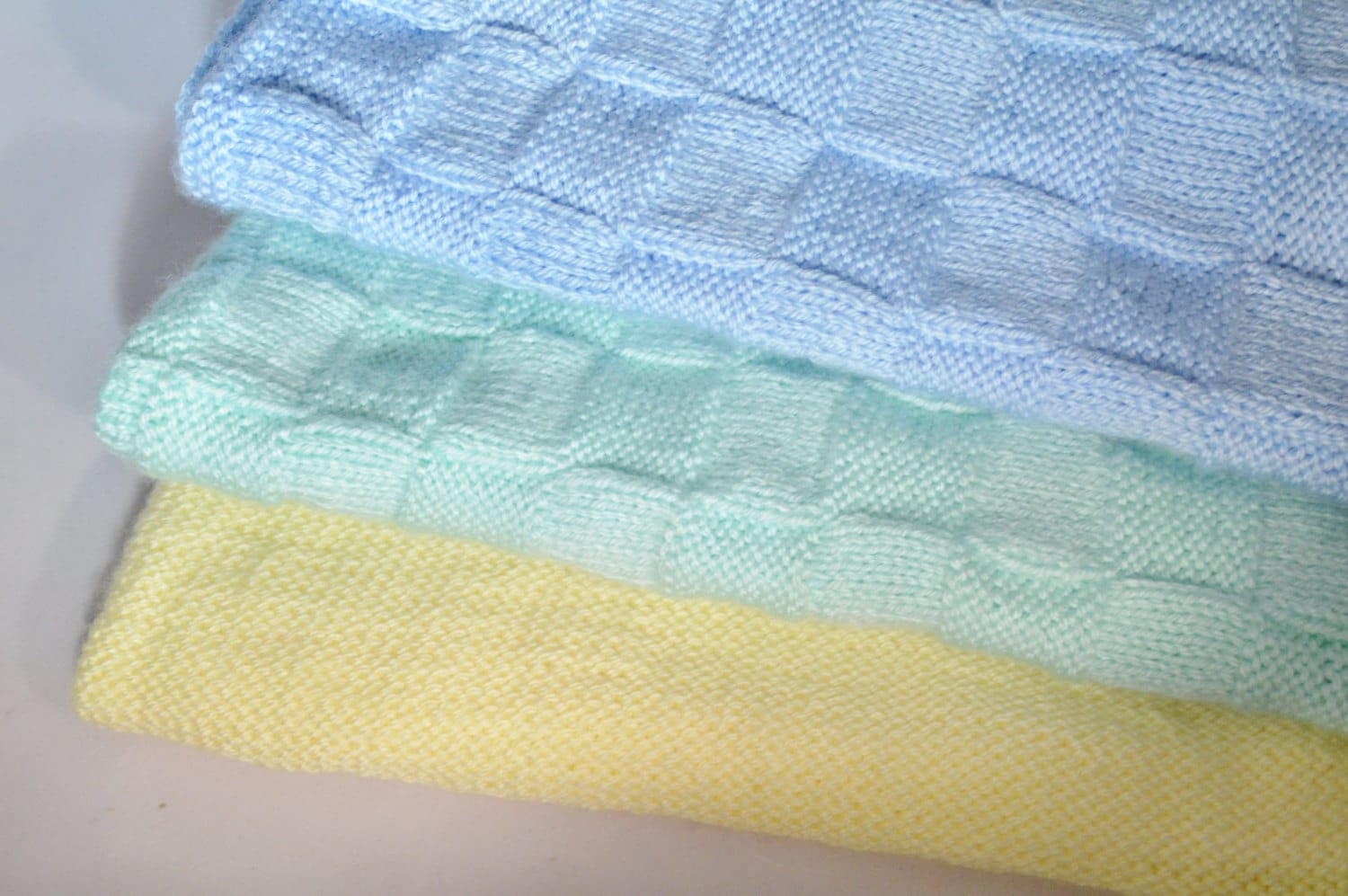 Knitted Baby Blanket Hand Knit Baby Blanket Handmade Crib