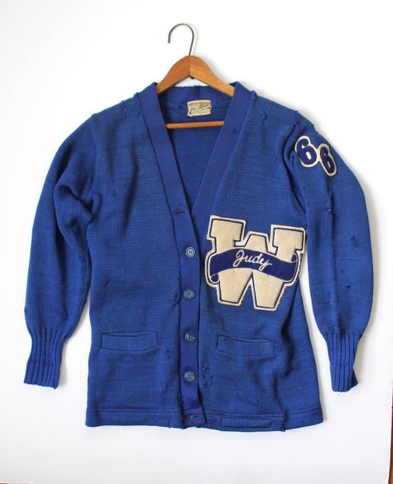 Vintage Varsity Sweater / Letterman Sweater