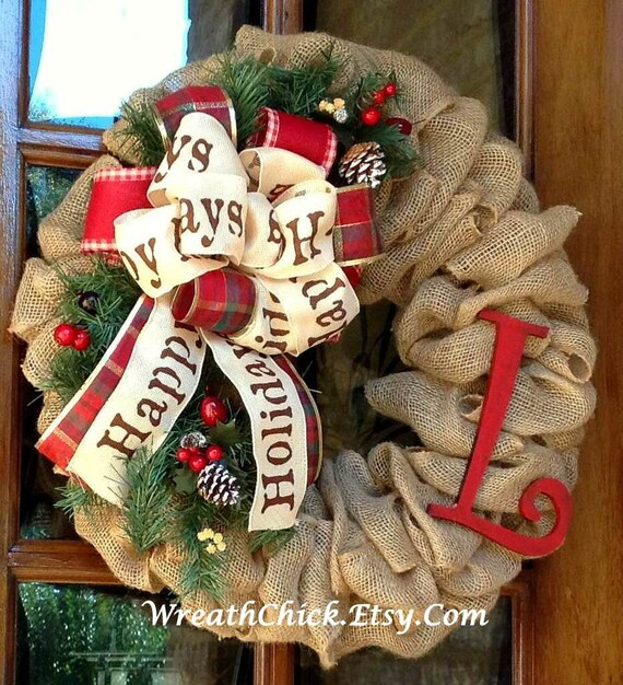 image 0 - How To Decorate A Burlap Wreath For Christmas