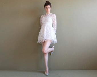 Mini Wedding Dress Etsy