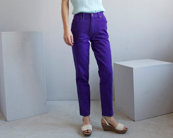 purple cotton pants jeans size 4